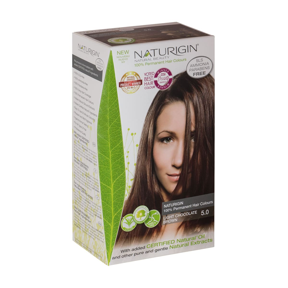 Naturigin Permanent Hair Colour Light Chocolate Brown 50 The
